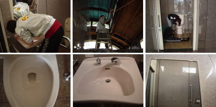 トイレ掃除2008複数写真