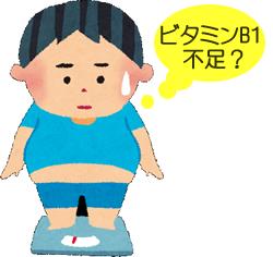 ビタミンB不足の太った男の子