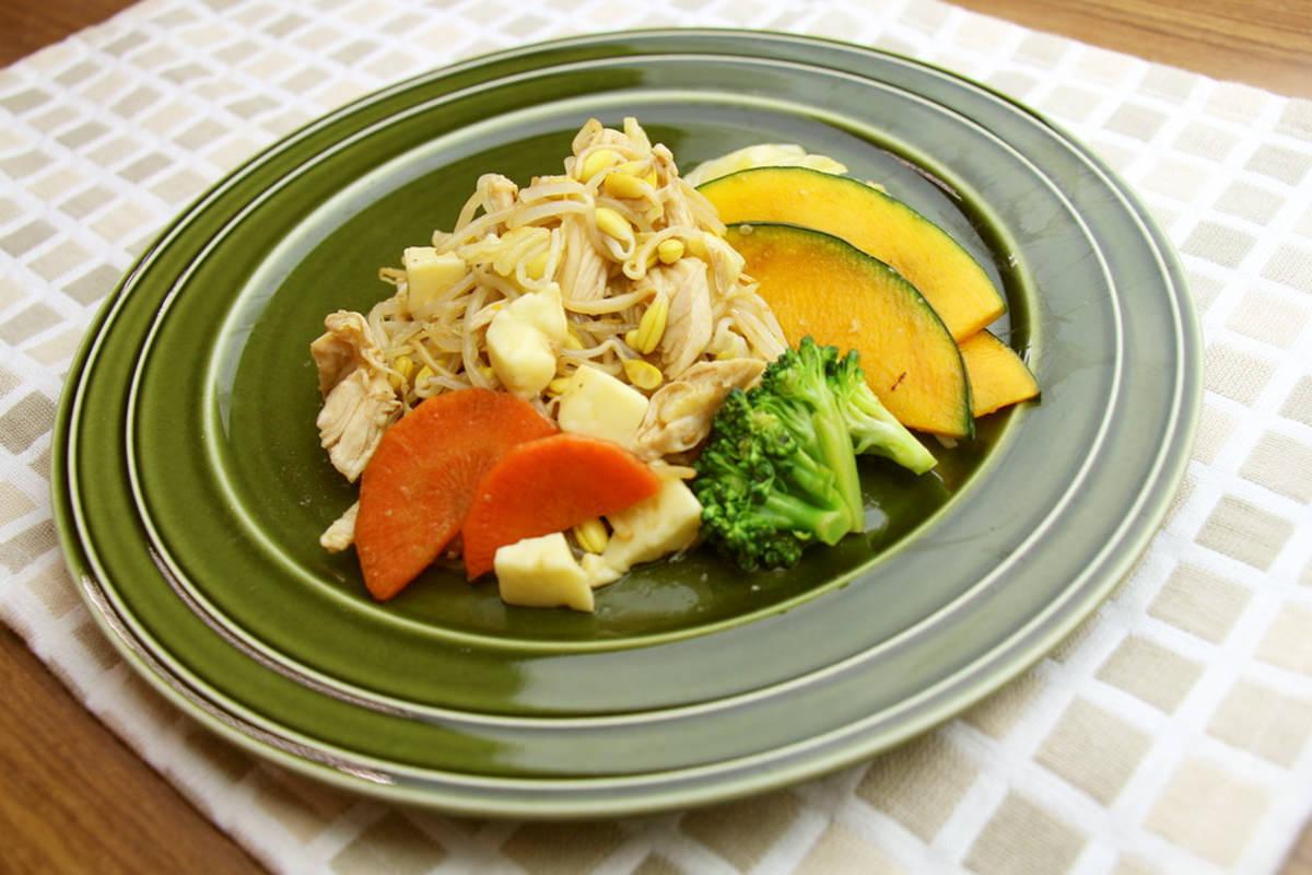 6品目の野菜でチーズタッカルビ風サラダ