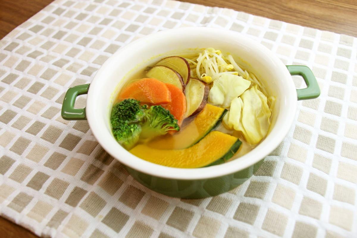 6品目の野菜で体力回復スープ