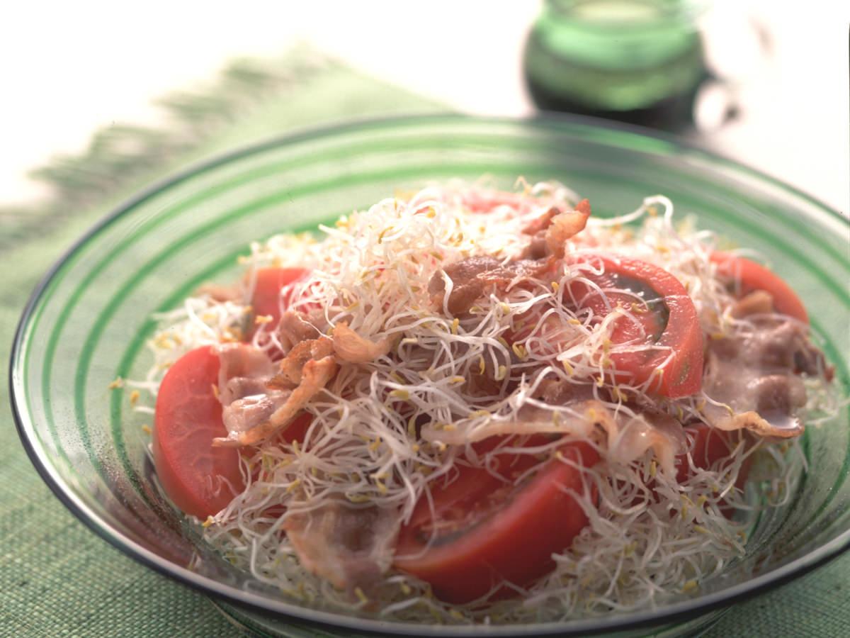カリカリ豚肉サラダ