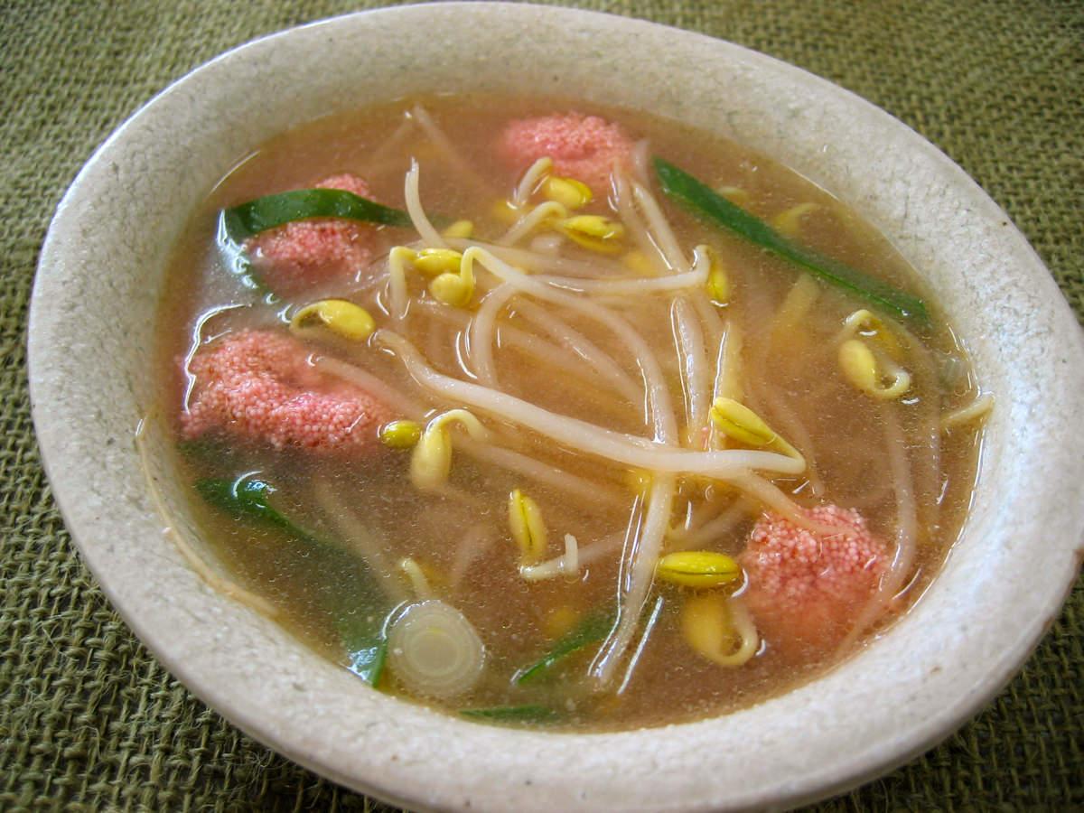 子大豆もやしとあさりのスープ